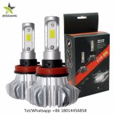 Automotive 10000 Lumen H4 H7 H11 Fanless COB FAROS LED Auto Kit para coche