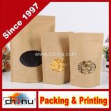 말린 음식 Nuts 차 포장을%s 지퍼 상단을%s 가진 Kraft 알루미늄 입히는 종이 봉지 (220122)