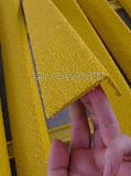 El FRP/GRP cubierta de la banda de rodadura de la escalera, fibra de vidrio escalera Nosing antideslizamiento.