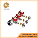 Válvula de esfera de latão para conexão de tubulação