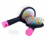 Los contactos flexibles del peine del arco iris del animal doméstico con el plástico inclinan el cepillo de la preparación del Pin para los perros y los gatos