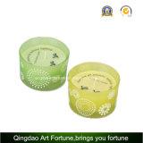 Bunte Glas-Zitronengras-Kerze für im Freien und Garten-Dekor