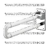 U-vormig ABS van de Leuning van de veiligheid Nylon die de Staven van de Greep opvouwen