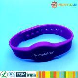 Wristbands classici registrabili del silicone 1K RFID di 13.56MHz ISO14443A MIFARE