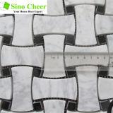 Streifen-Mosaik-Fliese-Mosaik-Stein-Fliese Wilte Marmor