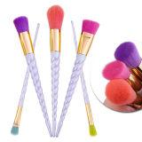 Professionista kit della spazzola di trucco delle 5 parti con capelli variopinti molli