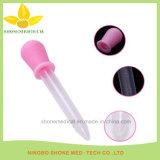 Lepel en Druppelbuisje van het Silicone van de Rang van de baby het de Medische