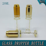 20ml Slim Cylinder Clear Cosmetic Glass Dropper Bouteille Pipette