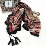 Chinesische Art-lange geometrische Strand-Schal-Dame Fashion Scarf