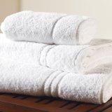 Tovagliolo di bagno di tela dell'hotel del bordo del rasatello del tovagliolo bianco dell'hotel (DPF061143)