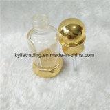 Frasco de perfume árabe do metal do ouro luxuoso quente da torção da venda 3ml 6ml com tampão Mpb-22