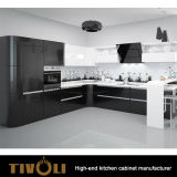 La cucina bianca del miele si unisce a quarzo Benchtop ed all'abitudine Tivo-0203h di disegno di tiro della barretta