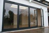 Portello di vetro di scivolamento di alluminio resistente domestico