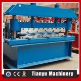 Metalldach-Fliese-Blatt-Panel walzen die Formung der Maschine kalt