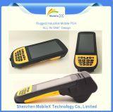 Rugged Handheld Mobile Computer PDA com 1d 2D Barcode Scanner, GPS, 3G, Impressora, Câmera, Fingerprint