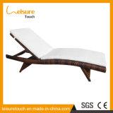 Praia de vime exterior de alumínio de vime Lounge Leisure cadeira reclinável