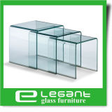O mobiliário moderno Nest Tabela laterais de vidro