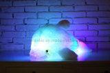 창조적인 다채로운 LED 빛 박제 동물 장난감 빛을내는 돌고래 견면 벨벳은 18 인치를