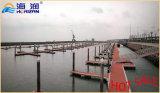 Pontón de acero galvanizado onda flotante del dique flotante en China
