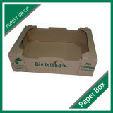 Bandeja del papel fuerte modificada para requisitos particulares de calidad para la venta al por mayor de la fruta