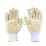 Вязаные рукавицы 7g, 10g, 13G, 15g хлопок перчатки с ПВХ точек