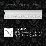 Cornice decorativo Hn-8025 do plutônio do painel do canto do molde da espuma de poliuretano