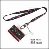 Miúdos bonitos cinta chave impressa do colhedor da garganta com os suportes de emblema conhecido para a venda