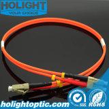 Cable óptico LC de la corrección de fibra a con varios modos de funcionamiento a dos caras Om1 u Om2 del LC
