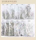 Nail Art Decoración de cristal posterior plana Estrás Chaton Rose
