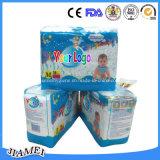 Fraldas de bebê descartáveis e respiráveis suaves com punhos de fuga Especial de Guangzhou Fair