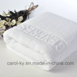 綿100%カスタム織エンボスジャガードロゴホテルハンドタオル