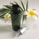 frasco plástico do animal de estimação 150ml verde com bomba do pulverizador