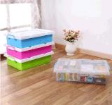 [هيغقوليتي] بلاستيكيّة منتوجات [35ل] شفّافة [أوندربد] [ستورج بوإكس] [بلستيك بوإكس] يعبّئ صندوق مع عجلات