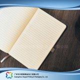 Caderno gravado do diário da tampa do couro do plutônio do logotipo A5 (xc-stn-007)