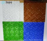 3mm-6mm 식물상 장식무늬가 든 유리 제품 계산된 유리 (CP-FP)