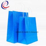 Bolsa de papel impresa aduana cómoda del regalo de las compras de la hoja de la insignia de Eco