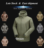 21 cores Camo Exército Blusa com capuz Softshell Caça uniforme à prova de casaco Militar