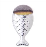 Schoonheidsmiddelen van de Borstels van de Make-up van het Handvat van de Vissen van de meermin de Kosmetische