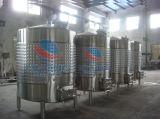 Réservoir de stockage de vin en acier inoxydable avec trou de visite latérales