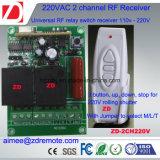 Commutateur à distance à distance de 2 canaux 1000m RF 220V / 12V / 24V