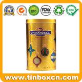 Caja de la lata de chocolate redonda para envases de alimentos, el chocolate puede estaño