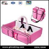 Pañal portátil rosado del bebé multifuncional bolsa de viaje