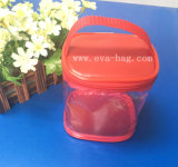 PVC coloré Non-Toxic Pacakging Sac avec fermeture éclair en nylon pour emballer les jouets en plastique (YJ-K022)