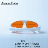 Os equipamentos laser proteger comprimento de onda: 200 - 540nm e 900 - 1100 nm para a 532nm e 1064nm