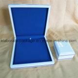 Rectángulo de madera blanco puro regio de la serie de la joyería de la venta al por mayor del conjunto de la joyería