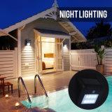 8개의 LED 태양 센서 벽 빛 무선 안전 경로 정원 도로 외부 점화를 위한 옥외 움직임 탐지 빛