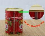 La pâte de tomate en conserve de l'étain la pâte de tomate pour le Ghana
