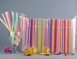 6 * 210 mm Jumbo de plástico flexible pajas de beber