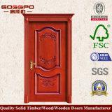 Puerta de madera tallada antigüedad de madera de la puerta de la pintura exterior (XS2-027)