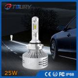 Encendido automático de luces LED 25W, el faro para el coche de la motocicleta, Jeep faros LED